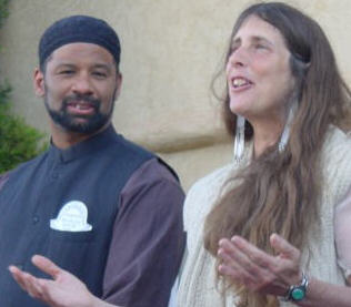 Abdul Rauf and Rabbi Lynn at their first Peace Walk.